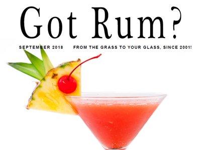 """""""Got Rum?"""" September 2018 Featured Story"""