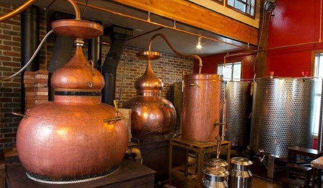 Copper Pot Stills at Montanya Distillers