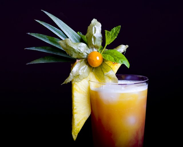 Elaborate cocktail for Muse of Mixology