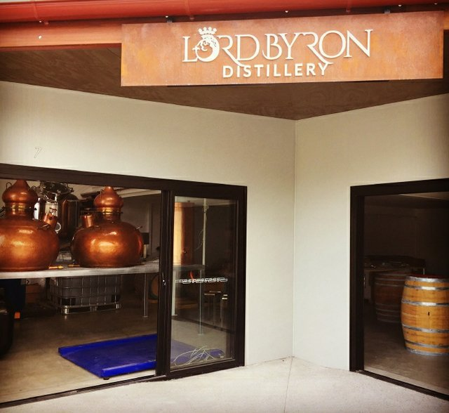 Entrance to Lord Byron Distillery