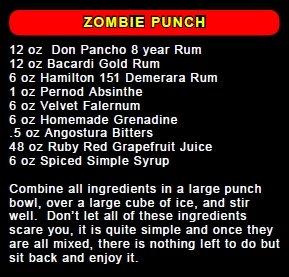 Recipe for Zombie Punch
