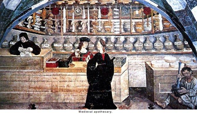 A medieval Apothecary