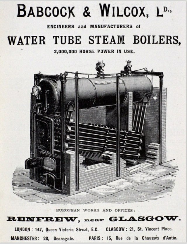 BBabcock & Wilcox Water Tube Steam Boilers
