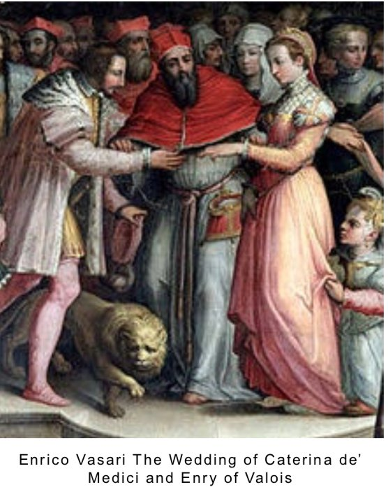 enrico vasari The wedding of Caterina de' medici and enry of valois