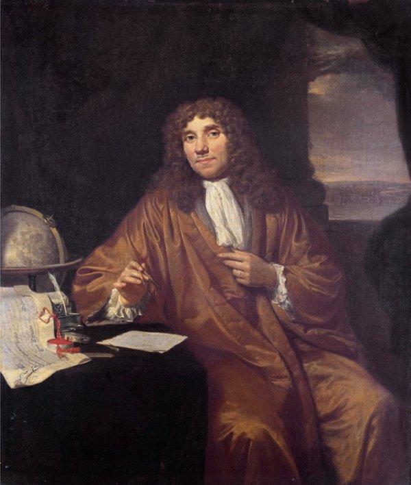 Portrait of antonie van leeuwenhoek.