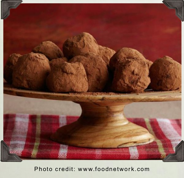Dark Chocolate Truffles with Rum Liqueur and Chocolate Creams with Rum Liquer