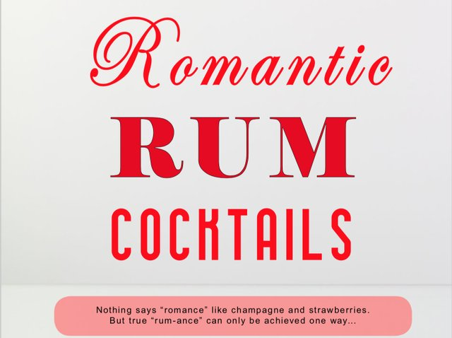 Romantic Rum Cocktails