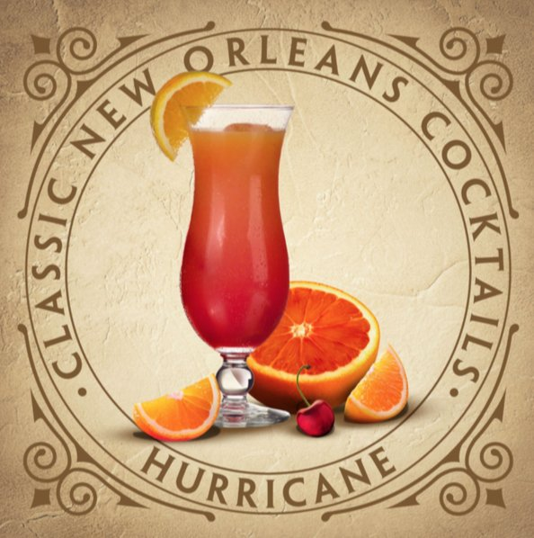 Classic New Orleans Hurricane Cocktail