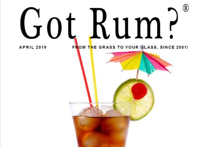"""Got Rum?"" April 2019 Featured Story"