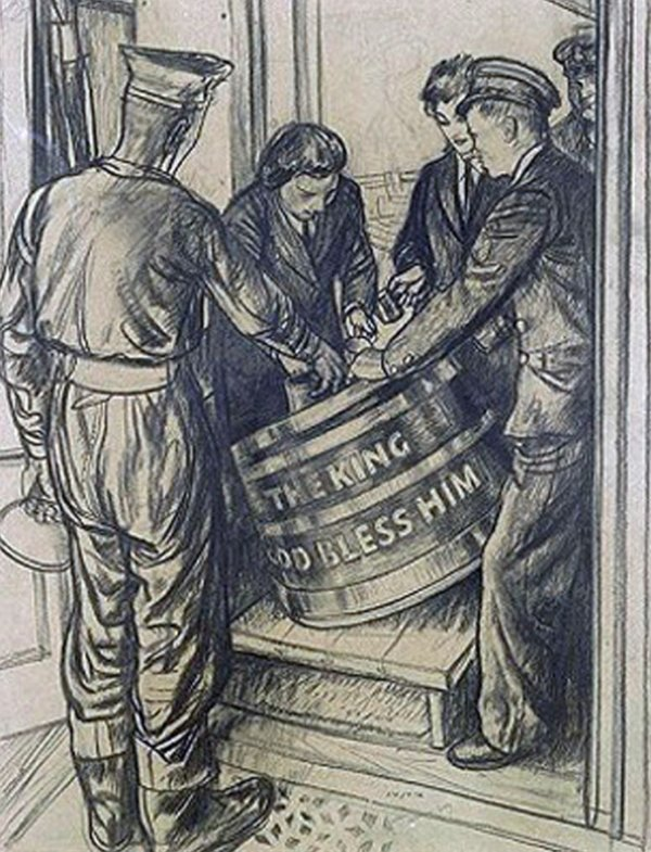 Navy Grog Barrels