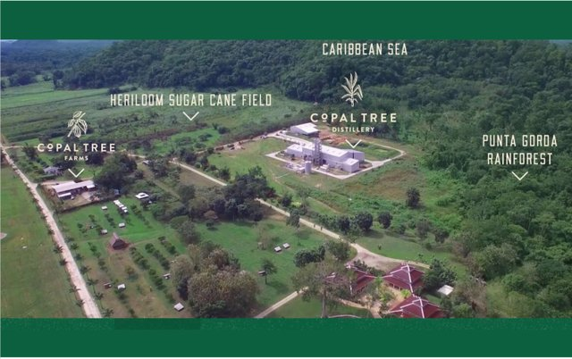 Map of Copal Distillery and Farms