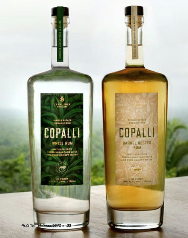 Copali White and Rested Rum