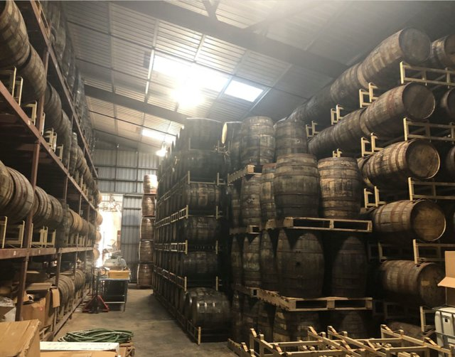 Copali Distillery and Oak barrels