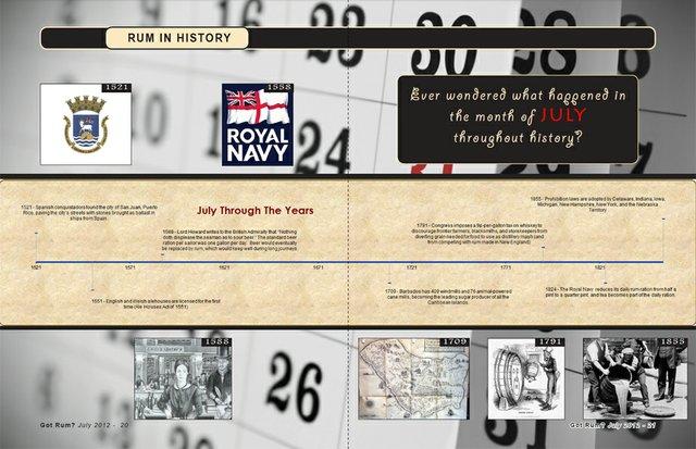 Rum in History- July