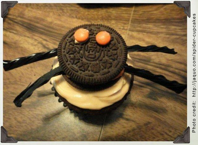 Spirited Spider Cupcakes