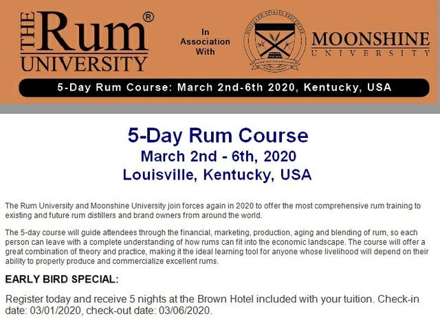March of 2020 Rum Course