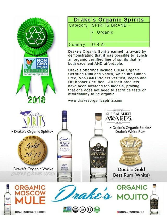 Drakes Organic Spirits