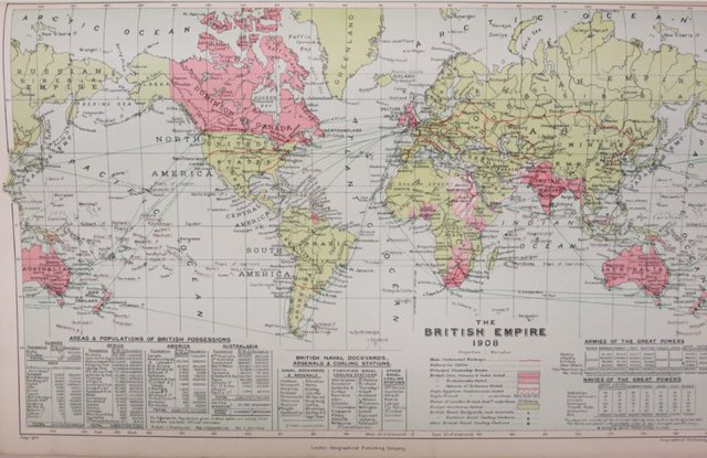 The British Empire 1908