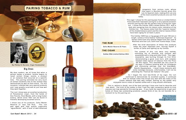 March 2013 Tobacco and Rum
