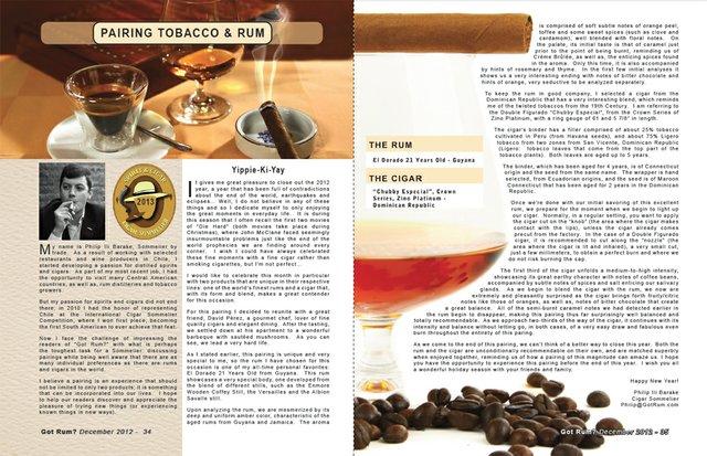 Dec 2012 Tobacco & Rum