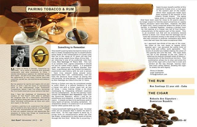 Nov 2012 Tobacco & Rum
