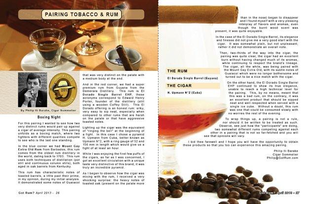 April 2013 Tobacco & Rum:  Boxing Night