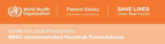 WHO Handrub Formulations