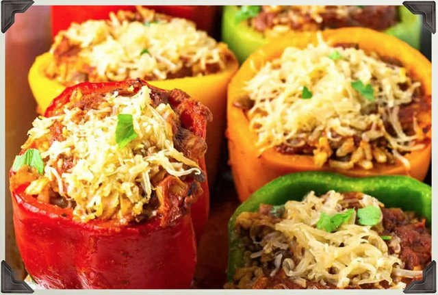 Colorful Savory Stuffed Peppers
