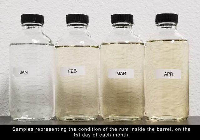Samples of each barrel
