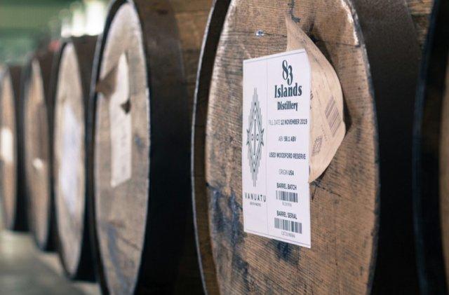 83 Islands Rum barrels