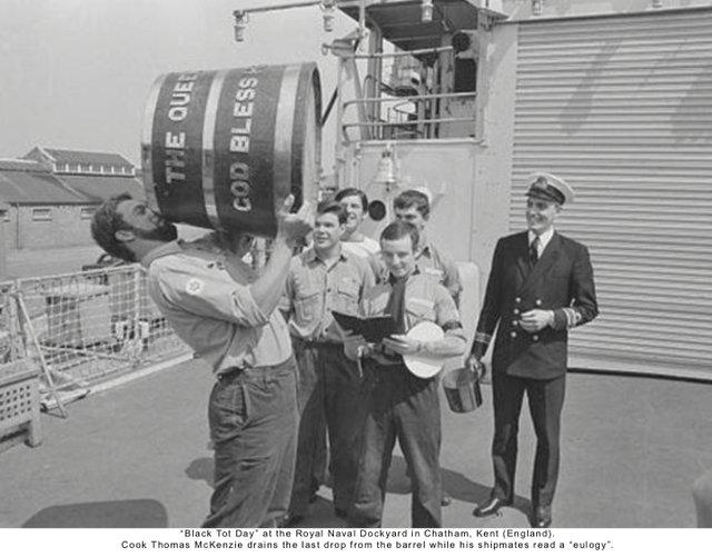 Black Tot Day at the Royal Naval Dockyard