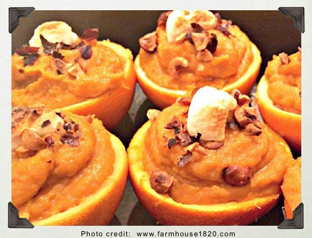 Sweet Potatoes in Orange Cups
