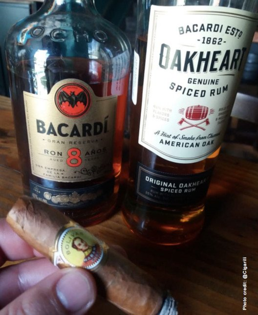 Bacardi 8 yr old and Bacardi Oakheart.