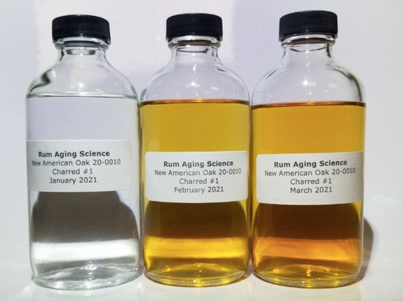 Color transformation of rum