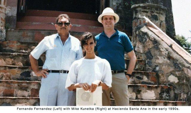 Fernando Fernandez with Mike Kunetka in 1990s