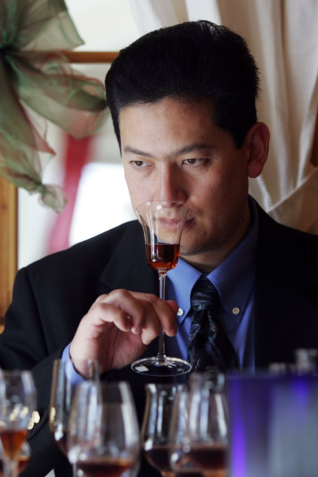 Luis Ayala with Snifter of Rum