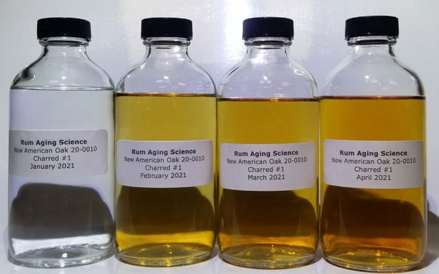 Color Transformation of Rum in April