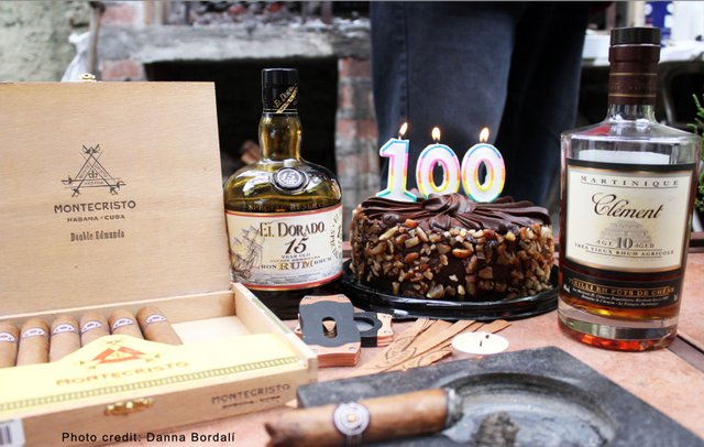 10 yr old Clement and 100 Cake