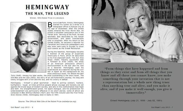 Hemingway, The Man, The Legend