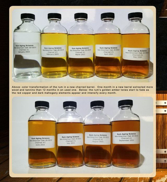 Color Transformation of Rum in August