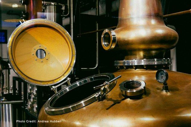 Copper Pot Still of Vitae Distillery