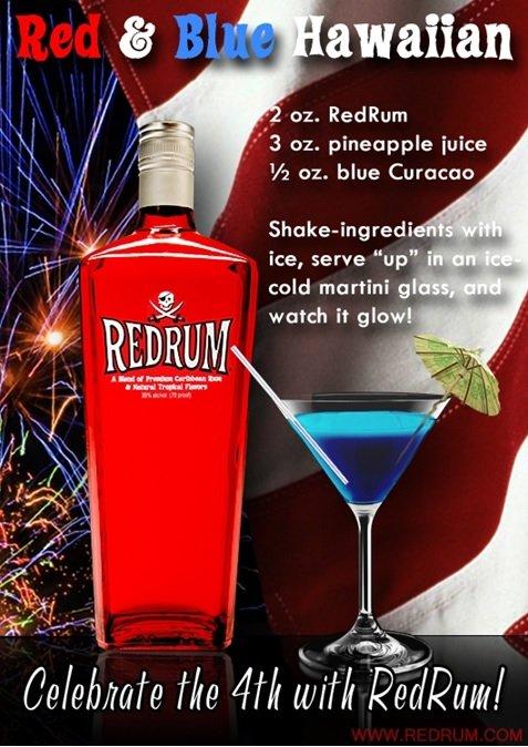 Red & Blue Hawaiian