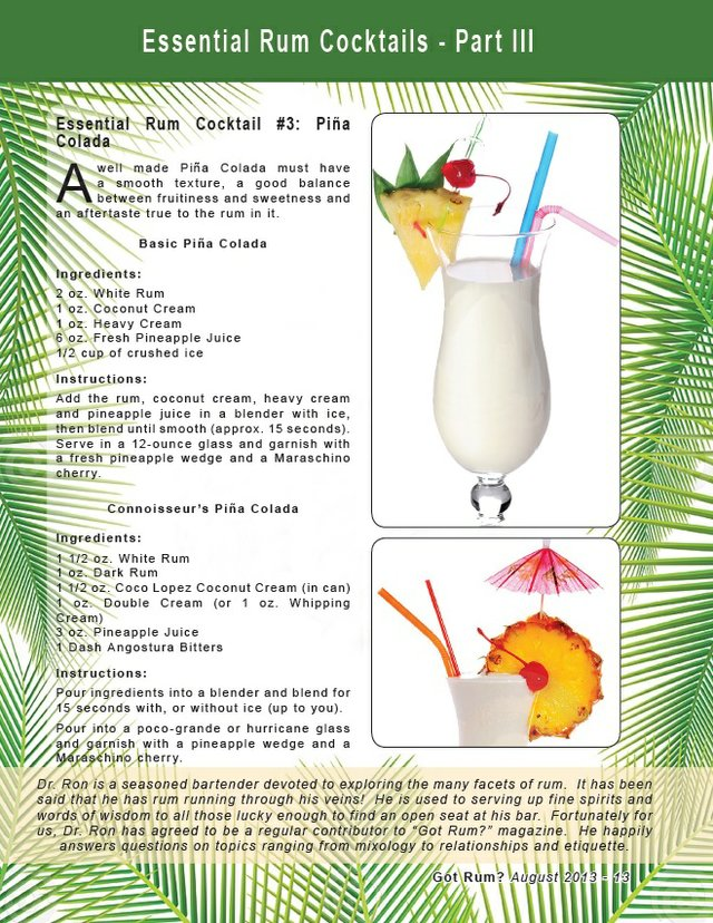 Essential Rum Cocktail #3: Piña Colada