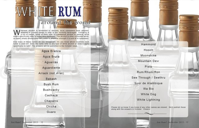White Rum: Around the World