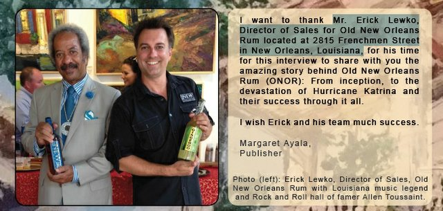 Erick Lewko, Director of Sales for Old New Orleans Rum