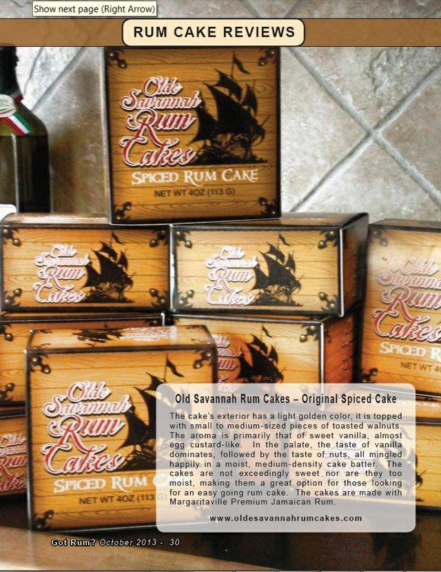 Olde Savannah Rum Cakes