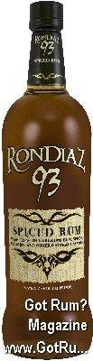 RonDiaz 93 Spiced Rum