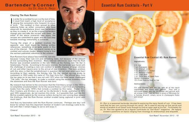 Essential Rum Cocktails - Part V: Rum Runner