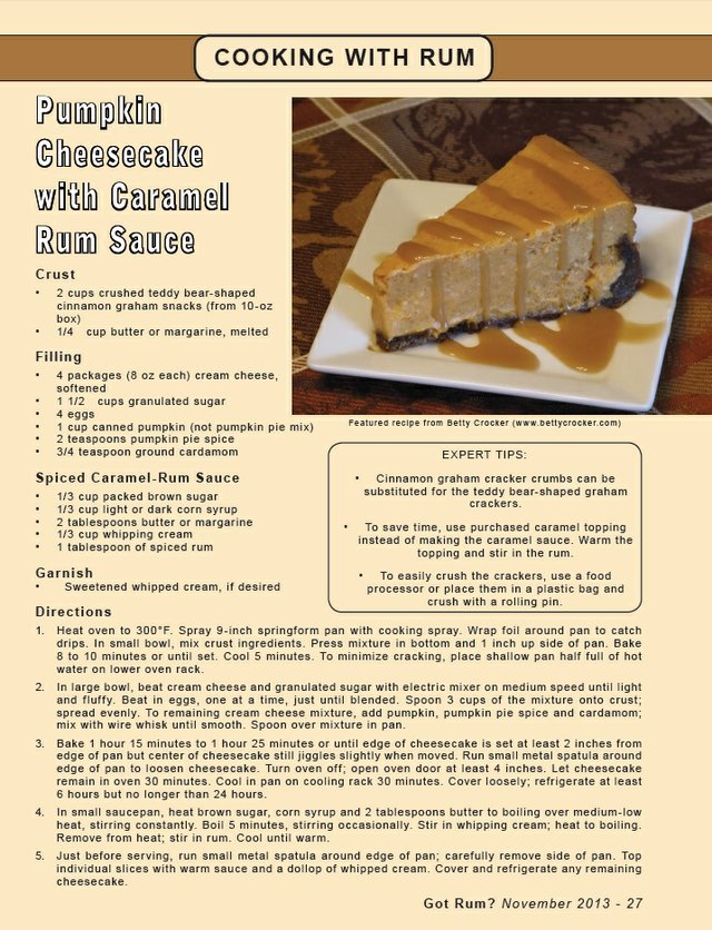 Recipe for Pumpkin Cheesecake