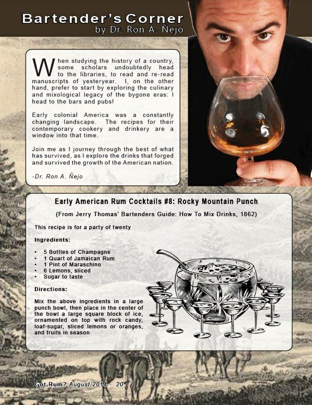 Bartender's Corner: Early American Rum Cocktail Part 8